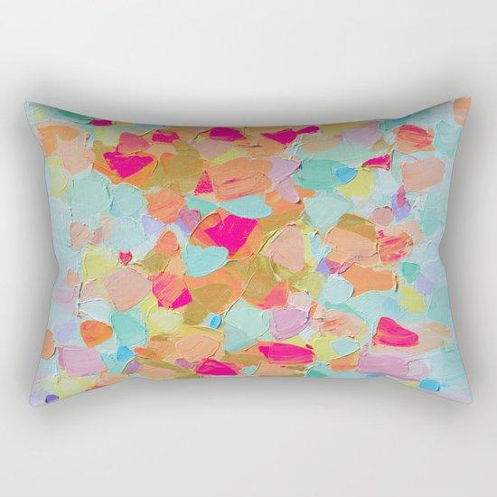 Pink Flamingo Party Rectangular Pillow
