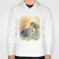 kittens Hoodies featuring Kittens by Michelle Behar