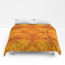 Golden Orange Colorburst Comforters
