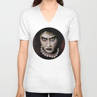 rocky horror picture show V-neck T-shirts featuring Untitled I by Rouble Rust