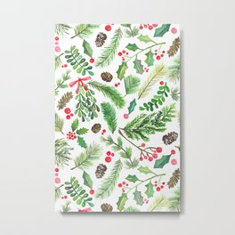 Lovely Christmas Greenery Metal Print