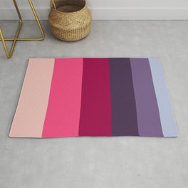 Wine Magenta Grape Purple Color-block Pattern Rug