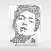 dylan Shower Curtains featuring Bob Dylan by S. L. Fina