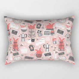 Modern farmhouse coffee station // pink Rectangular Pillow