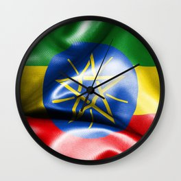 Ethiopia Flag Wall Clock