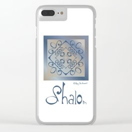 Shalom - Blue Beige Clear iPhone Case