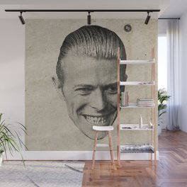 bowie vertical moire Wall Mural