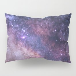 Purple Galaxy Star Travel Pillow Sham