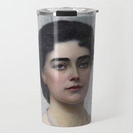 Mrs. Alec Tweedie by Herbert Gustave Schmalz Travel Mug