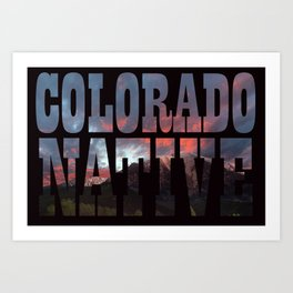 Colorado Native Art Print