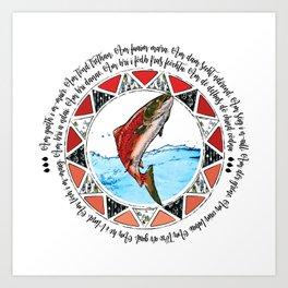 Salmon Spirit Animal Art Print
