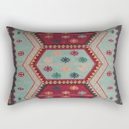 V31 Traditional Colored Moroccan Carpet. Rectangular Pillow