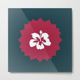 Illustration of a beautiful white flower Metal Print