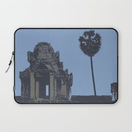 Crypt at Angkor Wat with Palm Tree Laptop Sleeve
