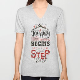 lettring quote journey Unisex V-Neck