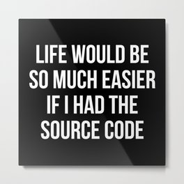 Life Source Code Metal Print