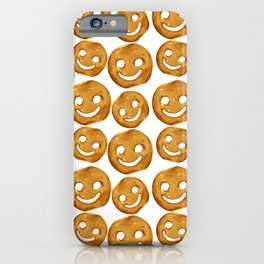 Smiley Fries Pattern iPhone Case