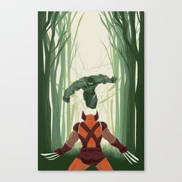 The Mutant versus the Hulk Canvas Print