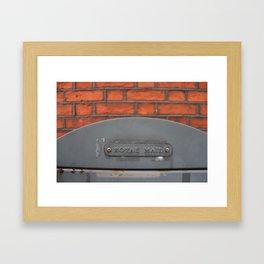 Royal mail. Framed Art Print