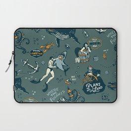 Vintage Ocean Pattern Laptop Sleeve