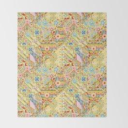 Sunshine Crazy Quilt (printed) Throw Blanket