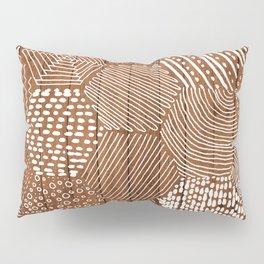 hexagon doodle patterns on wood Pillow Sham