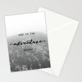 And So The Adventure Begins - Snowy Mountain Stationery Cards