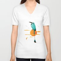 oklahoma V-neck T-shirts featuring Oklahoma Bird by HK Chik