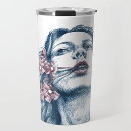 Wort-Blumen Travel Mug