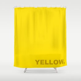 Yellow color less is more, happy summer design Shower Curtain