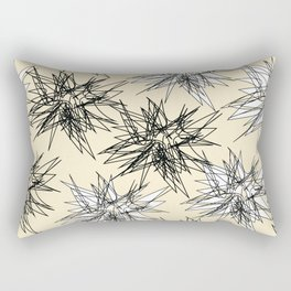 Black and White Squiggles Rectangular Pillow