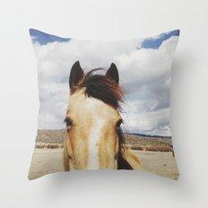 Cloudy Horse Head Throw Pillow