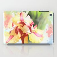 water colour iPad Cases featuring Water colour parrot tulip by thea walstra