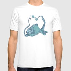Octopus ! MEDIUM Mens Fitted Tee White