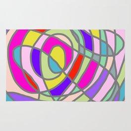 Stain Glass Abstract Meditation Tango Rug