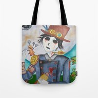 steampunk Tote Bags featuring Steampunk by Lynne Gryphon