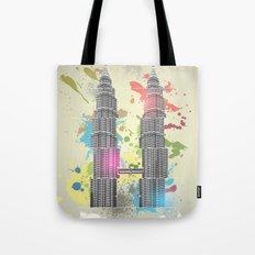 Petronas Towers Abstract Tote Bag
