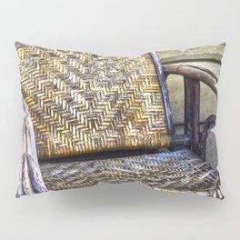 old rattan chair Pillow Sham