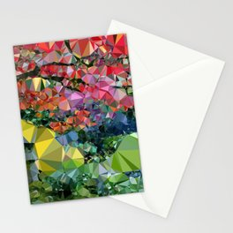 Garden Landscape Low Poly Geometric Triangle Art Stationery Cards