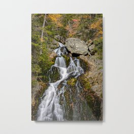 Crystal Cascades Autumn New Hampshire Waterfall White Mountains New England Landscape Metal Print