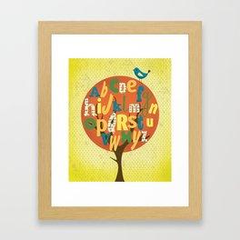 A-BIRD-C Framed Art Print