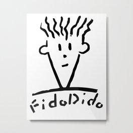 Fido Dido Face Metal Print