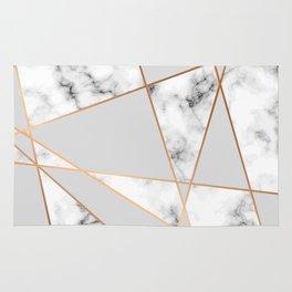 Copper smokey marble geo Rug