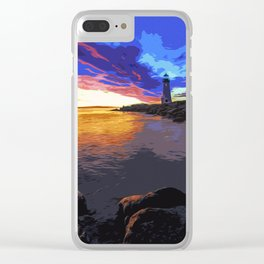 Walton lighthouse, California at sunset Clear iPhone Case