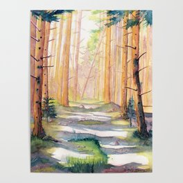 Down The Forest Path Poster
