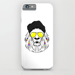 Hipster Lion yellow sunglasses King of  Savanne iPhone Case