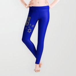 You go, girl! (blue) Leggings