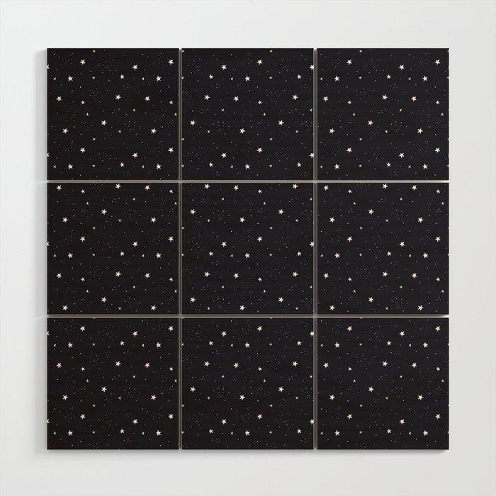 stars pattern Wood Wall Art