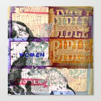 bible Canvas Prints featuring Bible Women by Mary Button