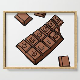Chocoholic Illustration Serving Tray